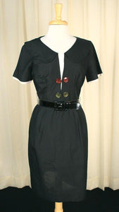 1950s Button LBD Wiggle Dress