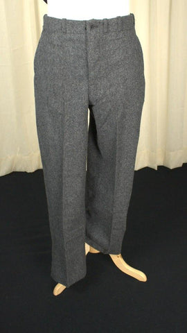 1950s Charcoal Wool Pants - Cats Like Us