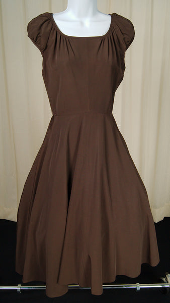 1950s Chocolate Dress Suit by Cats Like Us - Cats Like Us