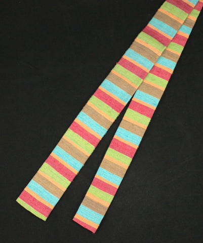 1950s Colorful Striped Silk Tie - Cats Like Us