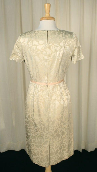 1950s Cream Brocade Dress Suit - Cats Like Us