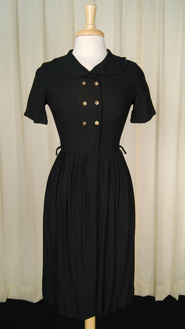 1950s Double Breasted LBD Dress