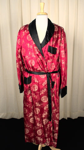 Vintage 1950s Dragon Smoking Jacket