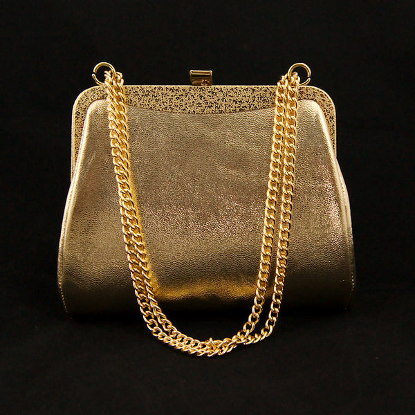 1950s Embossed Gold Handbag by Cats Like Us : Cats Like Us