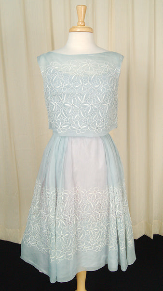 1950s Eyelet Swing Dress by Cats Like Us - Cats Like Us