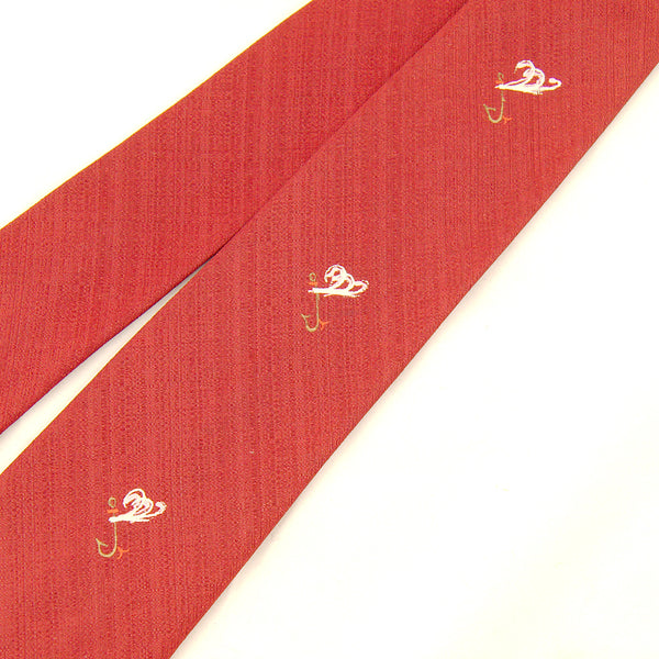 1950s Fishing Lure Painted Tie