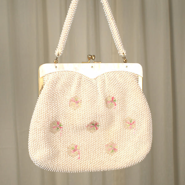 1950s Floral Candy Dot Handbag