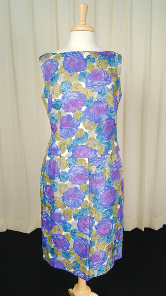 1950s Floral Draped Skirt Set by Cats Like Us - Cats Like Us