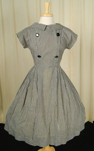 1950s Gingham Swing Dress by Vintage Collection by Cats Like Us - Cats Like Us