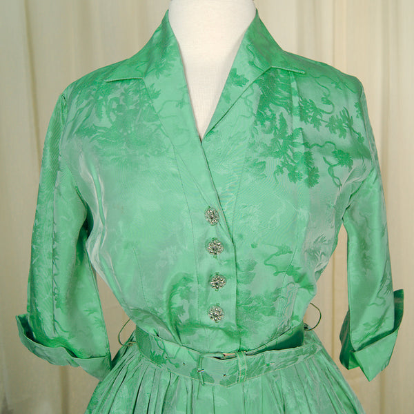 1950s Glass Bead Shirt Dress by Vintage Collection by Cats Like Us - Cats Like Us