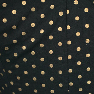 1950s Gold & Black Dot Dress - Cats Like Us