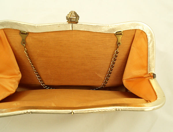 1950s Gold Clutch Handbag by Vintage Collection by Cats Like Us - Cats Like Us