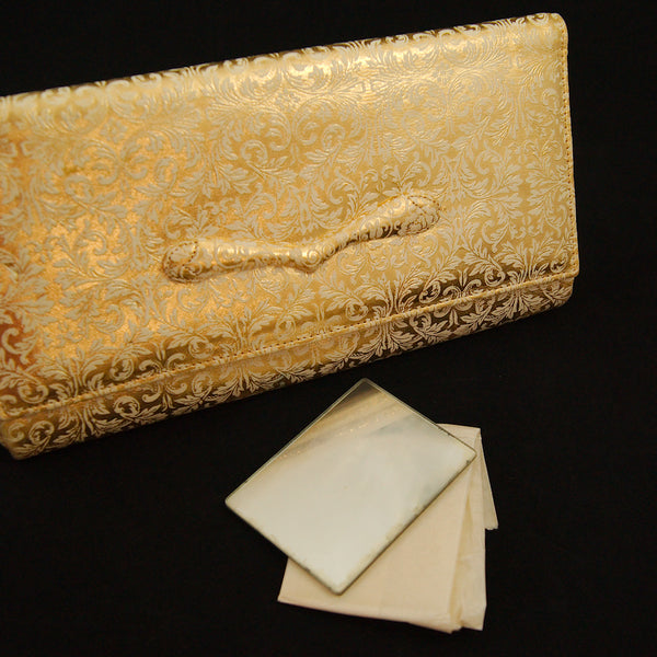 1950s Gold Embossed Clutch Bag by Cats Like Us - Cats Like Us