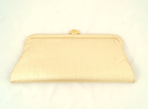 1950s Gold Fan Clutch Bag by Cats Like Us - Cats Like Us