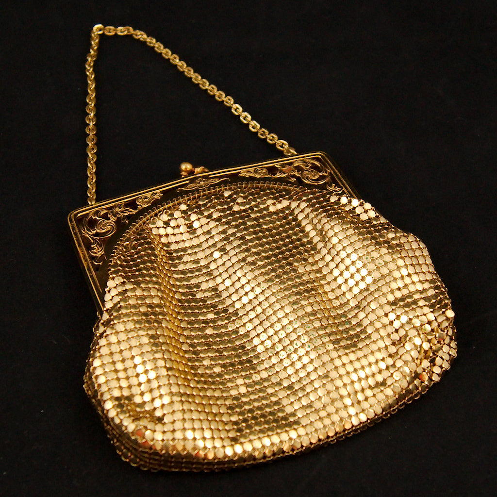 1950s Gold Mesh Handbag by Cats Like Us - Cats Like Us