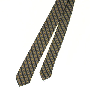 1950s Gray & Navy Stripe Tie