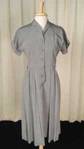 1950s Gray Rhinestone Dress - Cats Like Us