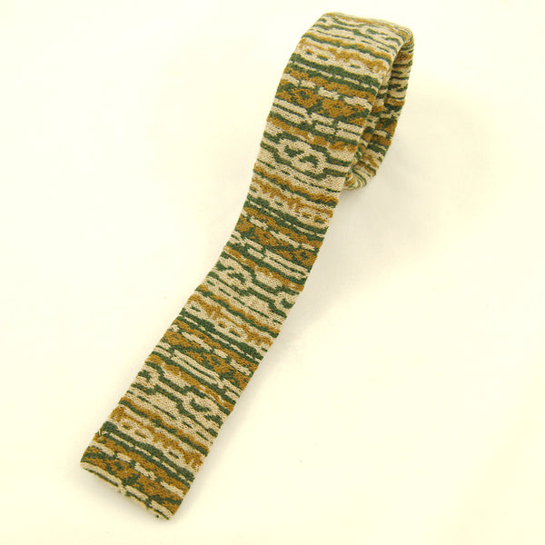 1950s Green & Brown Wool Tie by Vintage Collection by Cats Like Us : Cats Like Us
