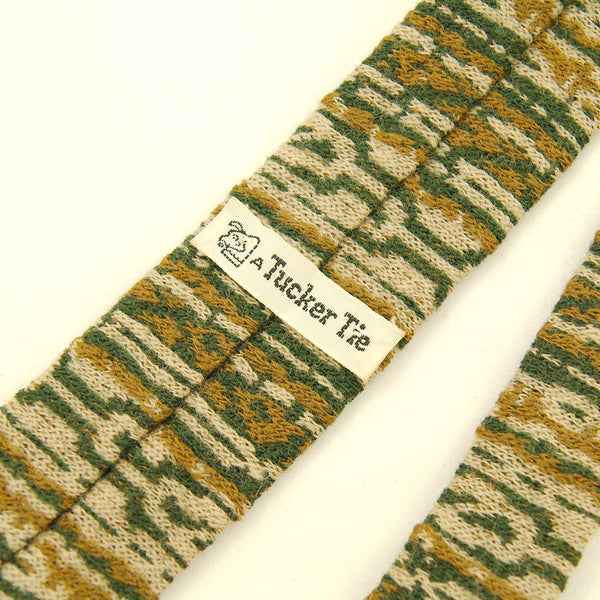 1950s Green & Brown Wool Tie by Vintage Collection by Cats Like Us - Cats Like Us