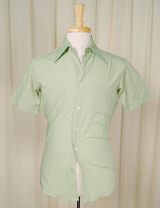 1950s Green Contrast Shirt