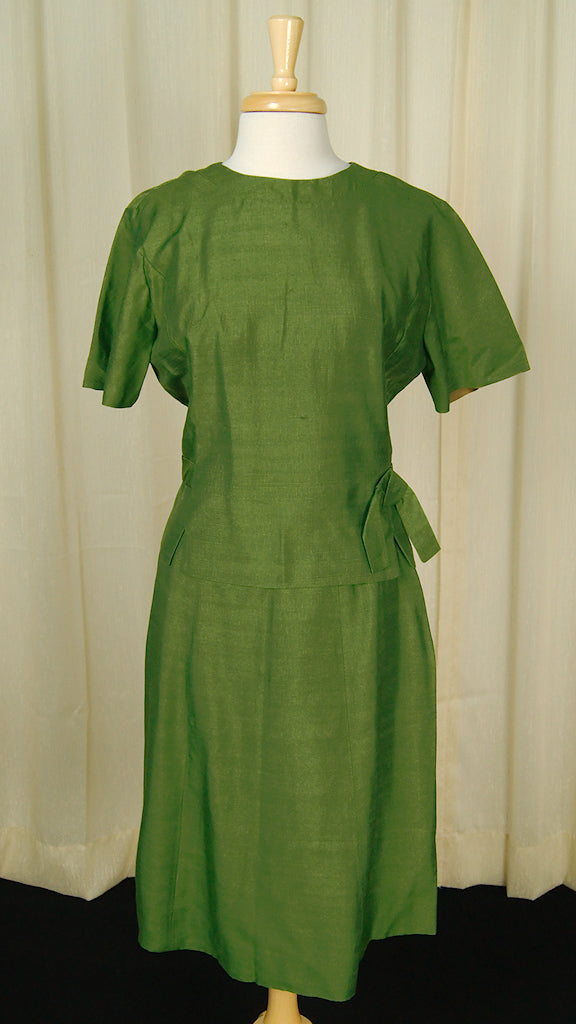 1950s Green Skirt Suit by Vintage Collection by Cats Like Us - Cats Like Us