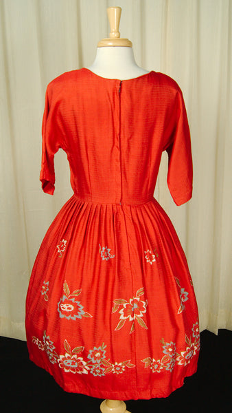 1950s Hand Painted Swing Dress by Vintage Collection by Cats Like Us : Cats Like Us