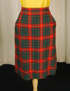 1950s Holiday Plaid Skirt by Cats Like Us - Cats Like Us