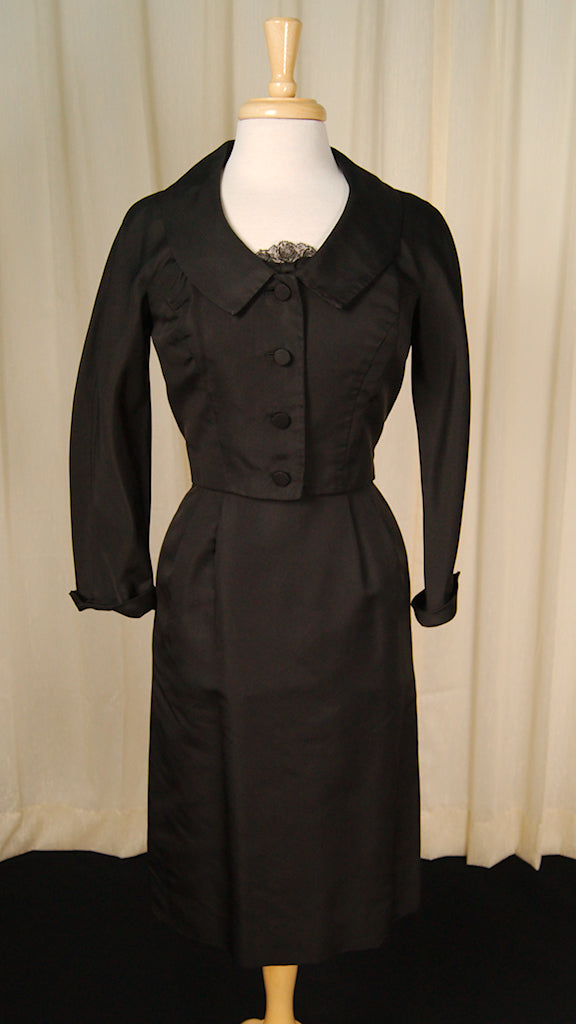 1950s Lace Trim Dress Suit by Vintage Collection by Cats Like Us - Cats Like Us