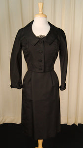 1950s Lace Trim Dress Suit