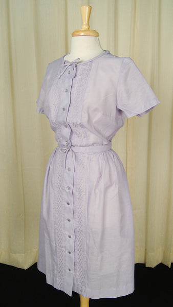 1950s Lavender Bow Dress by Vintage Collection by Cats Like Us - Cats Like Us