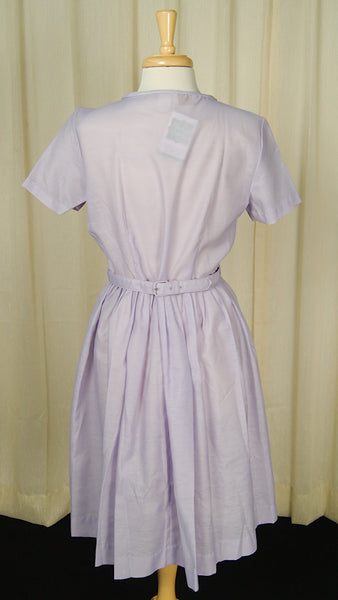 1950s Lavender Bow Dress