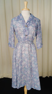 1950s Lavender Shirt Dress by Cats Like Us - Cats Like Us