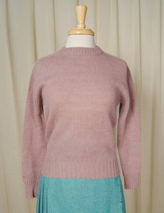 1950s Lavender Wool Sweater - Cats Like Us