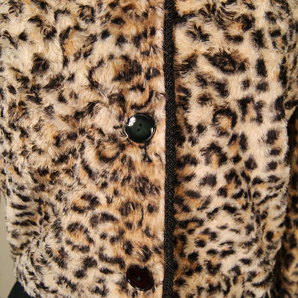 1950s Leopard Print Crop Jacket by Vintage Collection by Cats Like Us - Cats Like Us