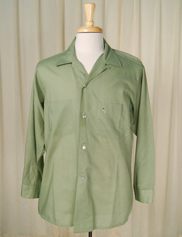 1950s LS Green Arrow Shirt - Cats Like Us