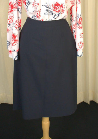 1950s Navy A-line Skirt - Cats Like Us