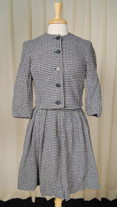 1950s Navy & White Skirt Suit