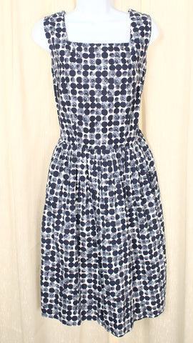 1950s Vintage Navy Polka Dot Sun Dress
