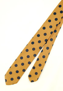 1950s Navy Polka Dot Tie by Cats Like Us - Cats Like Us