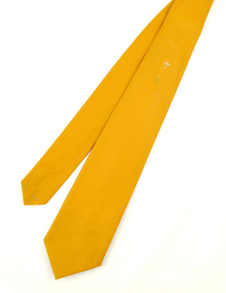 1950s Ochre Fleur de Lis Tie by Cats Like Us - Cats Like Us