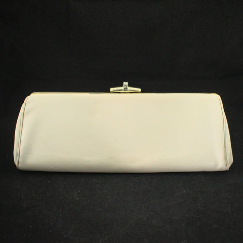 1950s Off White Patent Clutch - Cats Like Us