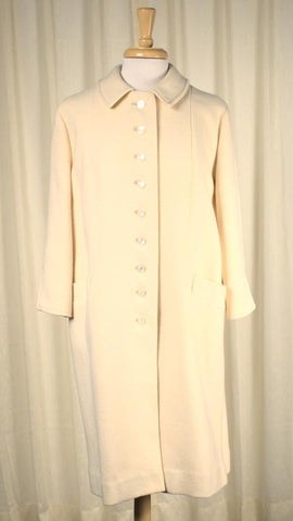 1950s Off White Wool Coat