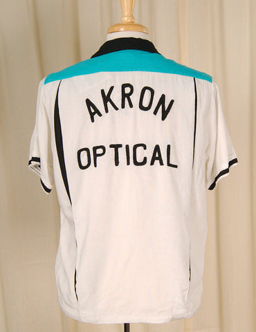 1950s Optical Bowling Shirt
