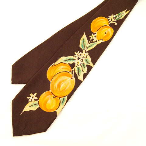 1950s Orange Blossom Tie