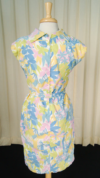 1950s Pastel Jungle Shift Dress by Cats Like Us - Cats Like Us
