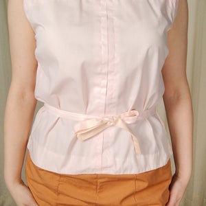 1950s Pink Button Back Blouse - Cats Like Us