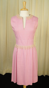 1950s Pink Linen Trim Dress by Vintage Collection by Cats Like Us : Cats Like Us