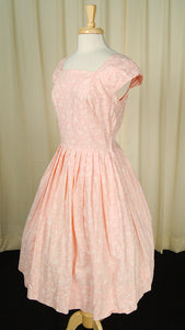 1950s Pink Swing Dress by Vintage Collection by Cats Like Us - Cats Like Us