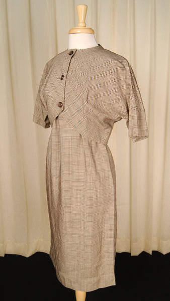 1950s Plaid Dress w Jacket