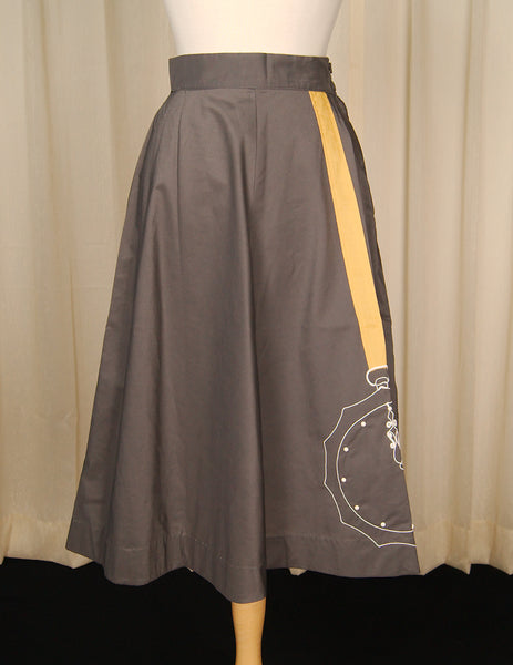 1950s Pocket Watch Skirt by Cats Like Us - Cats Like Us